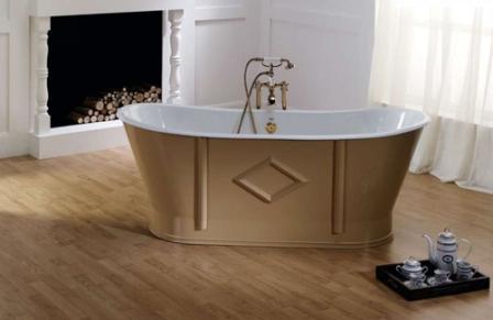 • Важное преимущество чугунной ванны – простота очистки
