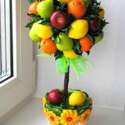 Топиарий своими руками для начинающих пошаговое фото из фруктов