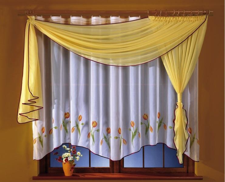 Придать особый стиль и законченность для интерьера помещения помогут уже готовые шторы для кухни