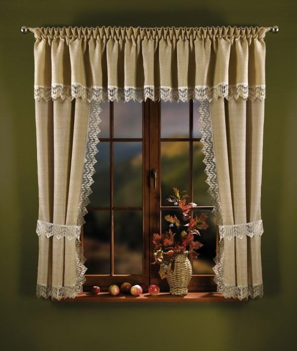 Готовые шторы для кухни и других комнат отличаются большим разнообразием фурнитур