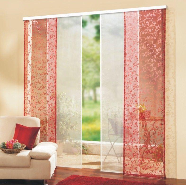 Зависимо от предпочтений хозяйки жилья, мастер может создать японские шторы, используя только однотонные ткани, или же основа может быть раскрашена разными узорами, орнаментами, цветами
