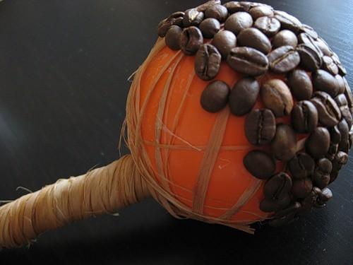 Каркас для топиария с кофейными зернами готов (фото 2)