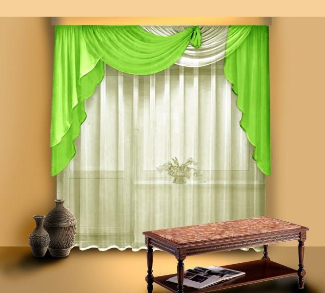 Наиболее часто используемыми являются мягкие шторы и ламбрекены для кухни