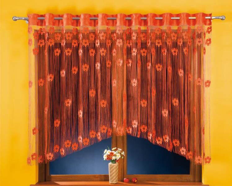 Если на кухне стены выкрашены в однотонный спокойный цвет, то арочные шторы могут стать тем элементом, который оживит весь интерьер