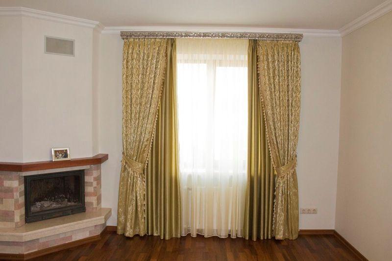 Самым простым способом создания занавесок является раскрой штор прямоугольной формы