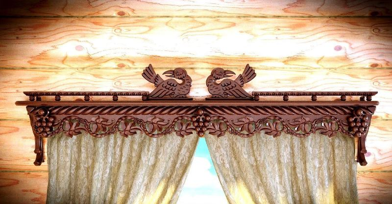 Многие изделия оснащаются декоративными компонентами, скрывающими детали конструкции и крепежные элементы
