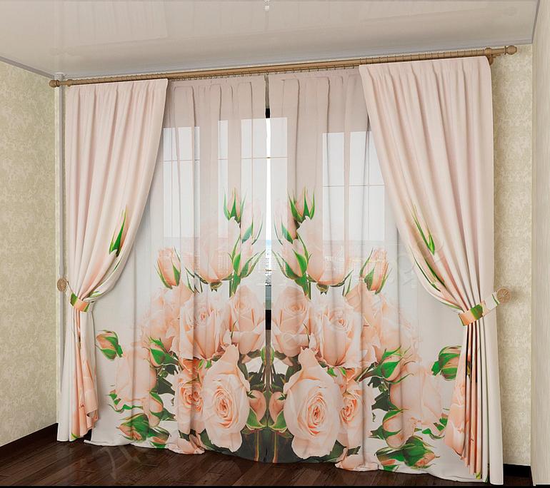 Шторы на окна с авторским рисунком расставят художественные акценты, создавая творческий стиль в помещении