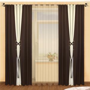 Комбинированные шторы считаются оригинальным способом украсить окна