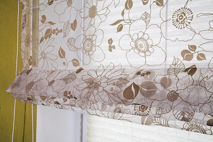 Занавески в римском стиле практичны и удобны (фото 2)