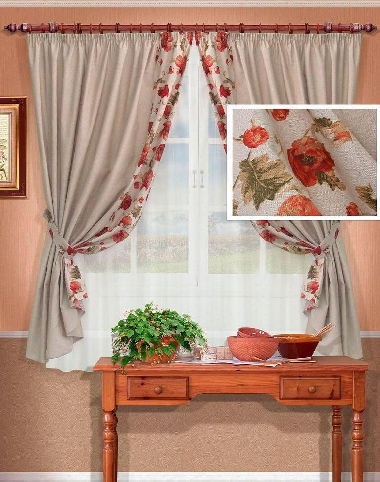 Классические кухонные шторы обеспечат простоту и функциональность