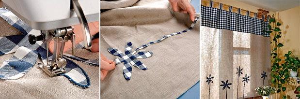 Наиболее простым вариантом для новичков в рукоделии станут шторы с петлями
