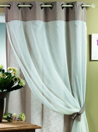 На сегодняшний день популярностью пользуются шторы на кухне на люверсах