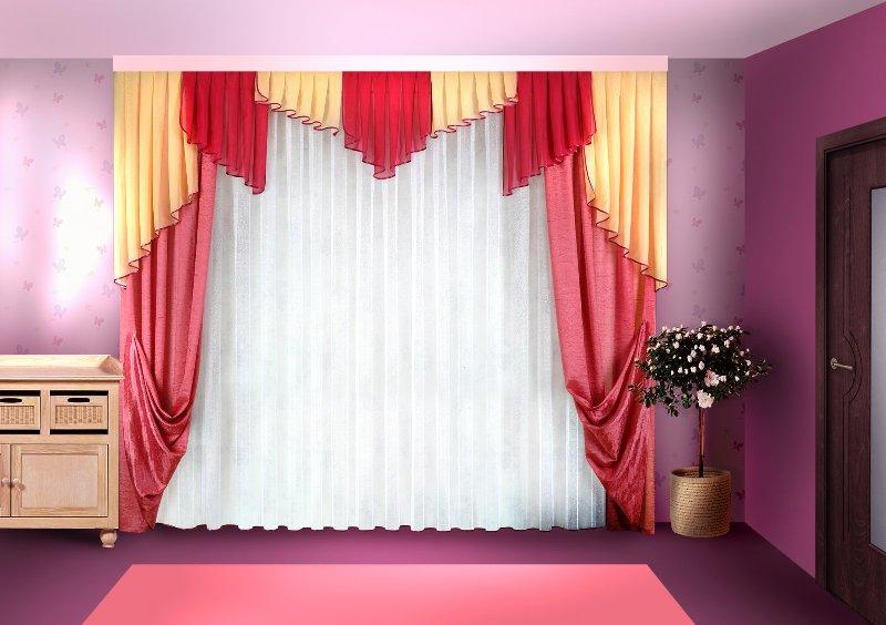 Чтобы получилась красивая занавеска, достаточно будет отдельных отрезков, которые образовались в результате пошива штор