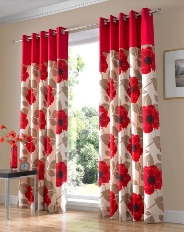 Цвет и стилистику люверсов следует выбирать в тон общей цветовой гамме и стилистическому оформлению помещения