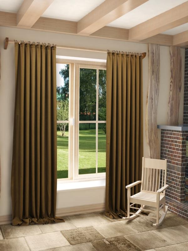 Очень часто в квартирах и в загородных домах используют наиболее простой вариант оформления штор