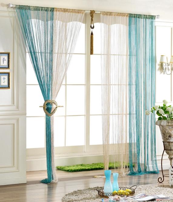 Шторы из нитяных полотен применяются для декорирования окон