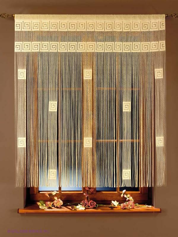 Разнообразный дизайн нитяных штор позволяет оформить помещение в любом стиле