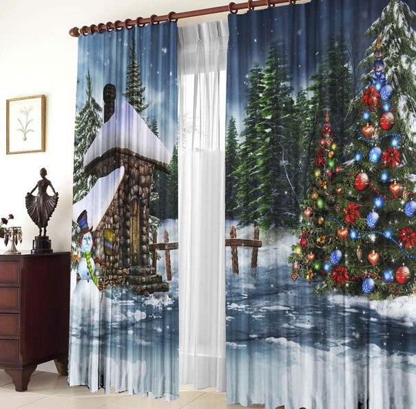 Новогодние шторы значительно отличаются от обыкновенных аналогов