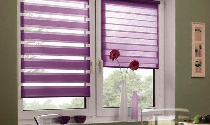 Рулонные шторы в интерьере кухни играют немаловажную роль