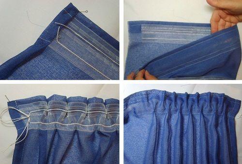 Пошив штор своими руками выкройки