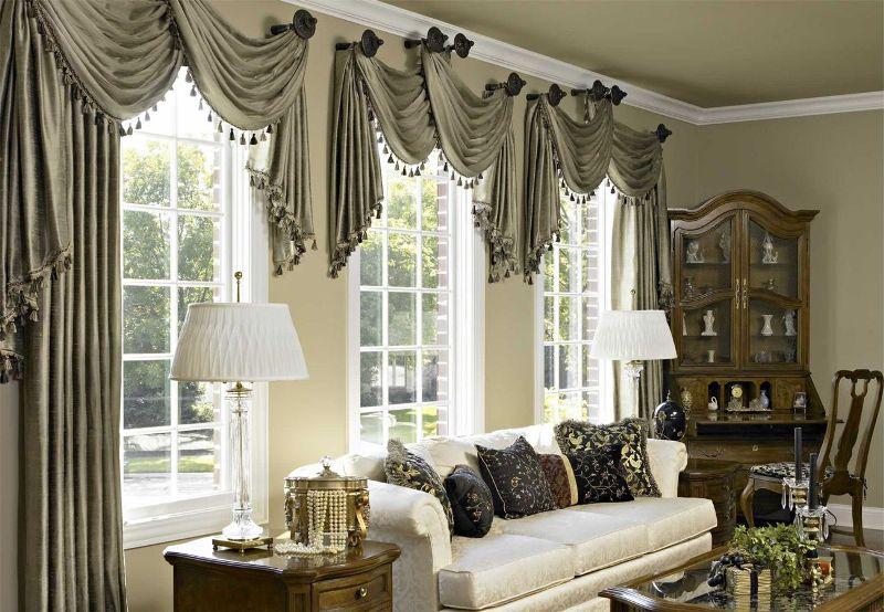 Дизайн ламбрекенов нужно выбирать исходя из того, в каком стиле обставлен интерьер помещения