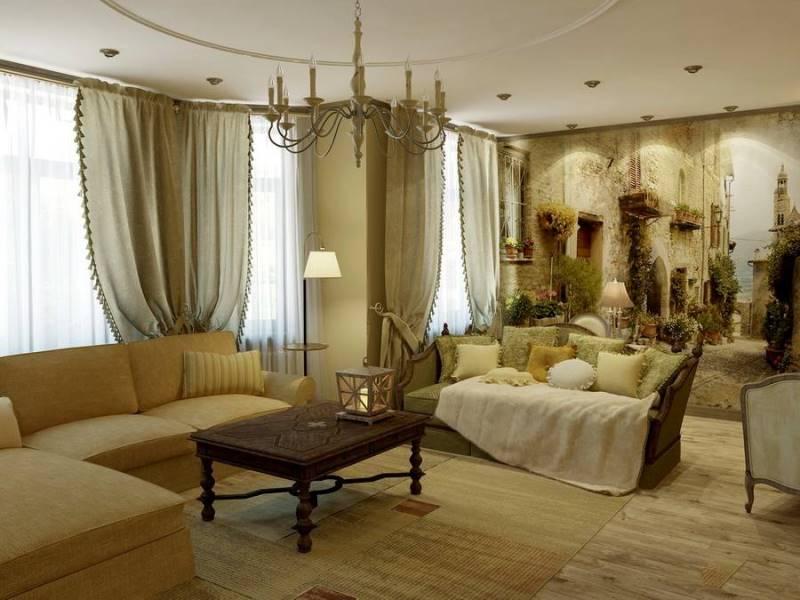 Если вы желаете придать своей квартире налет французского шика, но являетесь приверженцем простоты в интерьере, вы оцените фото штор в стиле прованса