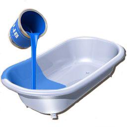 Способ, который называется «наливная ванна», представляет собой обработку поверхности специальным составом – жидким акрилом