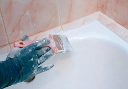 Ванной можно будет пользоваться примерно через 4 дня после проведения реставрации