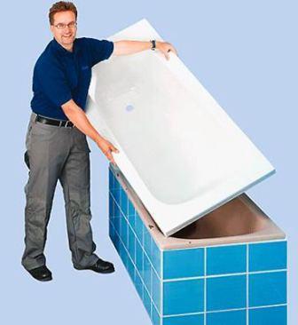 Для установки акрилового вкладыша потребуется тщательная подготовка поверхности