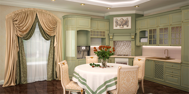 В идеале итальянские занавески предполагают создание в этом помещении самобытного итальянского колорита (фото 3)