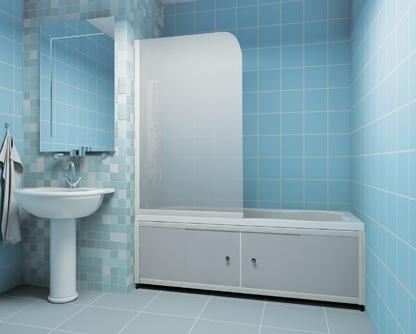 Ширмы для ванной могут быть разнообразных конструкций