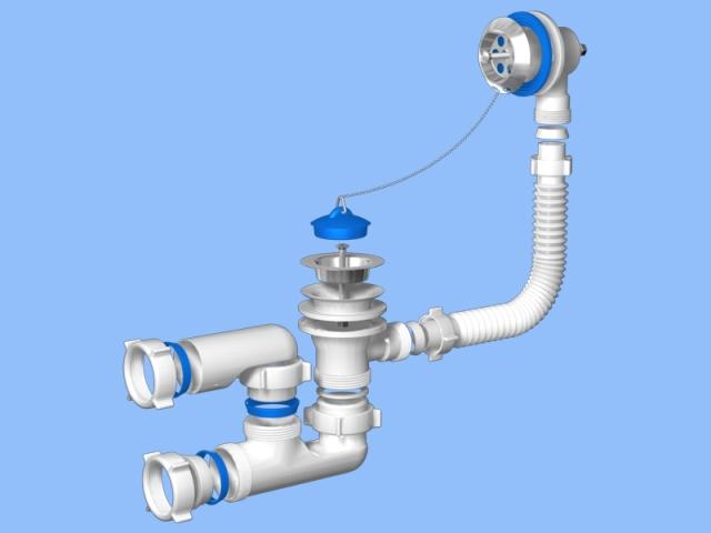 Гофрированный сифон – подвижная гофрированная трубка с выпуском, которую во время установки можно изгибать в любом направлении