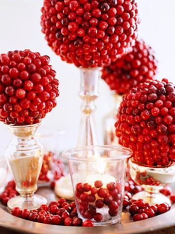 Топиарий своими руками можно сделать и из ягод, в зимнее время для этого прекрасно подходит рябина