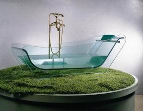 Стеклянные ванны, безусловно, смотрятся неординарно и экстравагантно