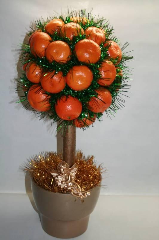 Можно изготовить апельсиновое дерево