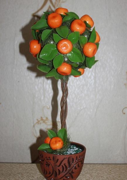 На последнем этапе следует украсить изделие. В роли апельсина будет выступать бусинка