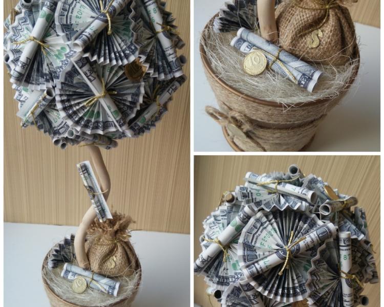 Топиарий - самодельное деревце в горшочке, которое можно декорировать любым материалом или украшением
