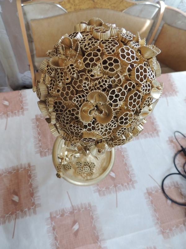 Топиарии из макарон - декоративные изделия, которые по своей форме напоминают маленькие деревья