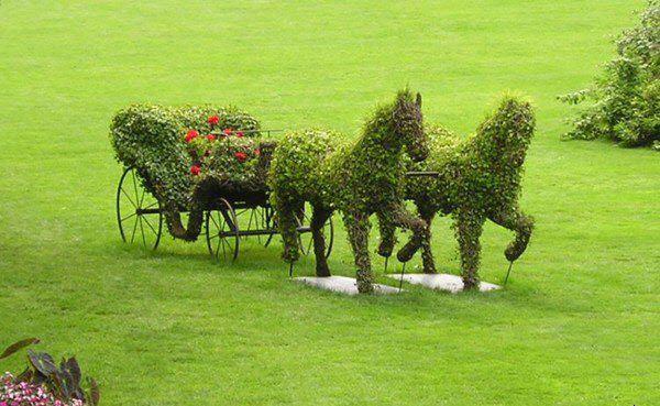 Топиарное искусство подразумевало изготовление зеленых скульптур и живых изгородей (рис. 1)