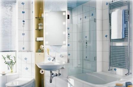 Светлые тона и светлая сантехника способны увеличить объем помещения