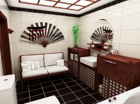Японские традиции проникают в интерьеры ванных помещений и диктуют наличие некоторых обязательных предметов