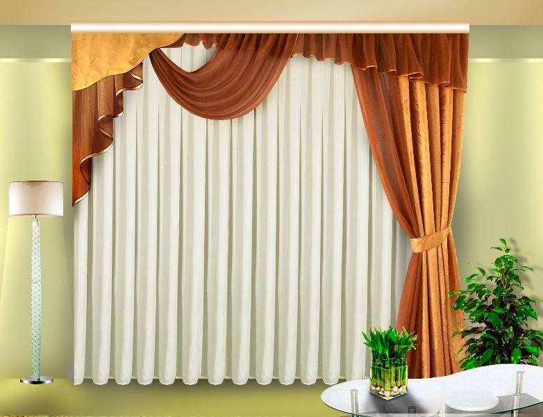 Красивые шторы не всегда обязаны иметь сложные линии, драпировки и элементы