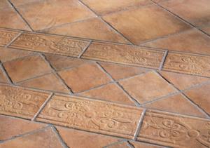 Глиняная плитка котто выглядит очень оригинально