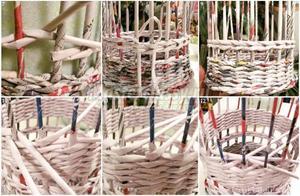 Способы плетения корзин из трубочек
