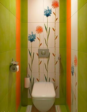 Туалетная комната маленького размера после ремонта