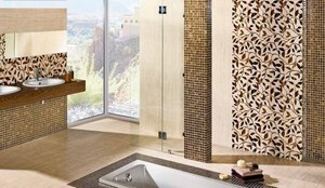 Идеи для интерьера: плитка мозаика в ванной