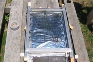 Как сделать солнечный радиатор для подогрева воды