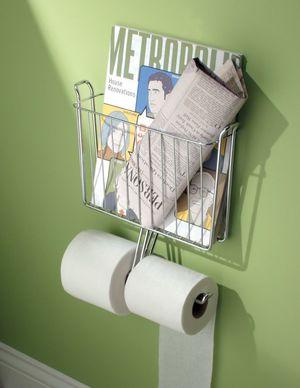 Газетница в туалете