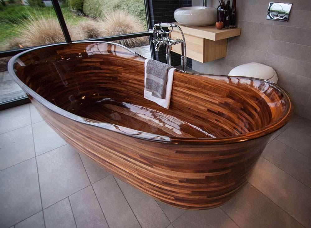 Как сделать ванну из дерева