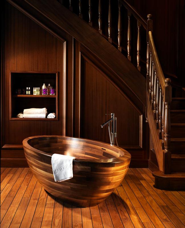 Деревянная ванная комната своими руками